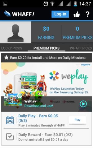 premium pick cara mendapat uang lewat whaff