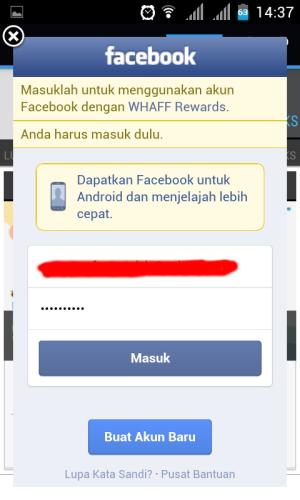 Cara mendapat uang dari WHAFF Reward Android dan Tablet