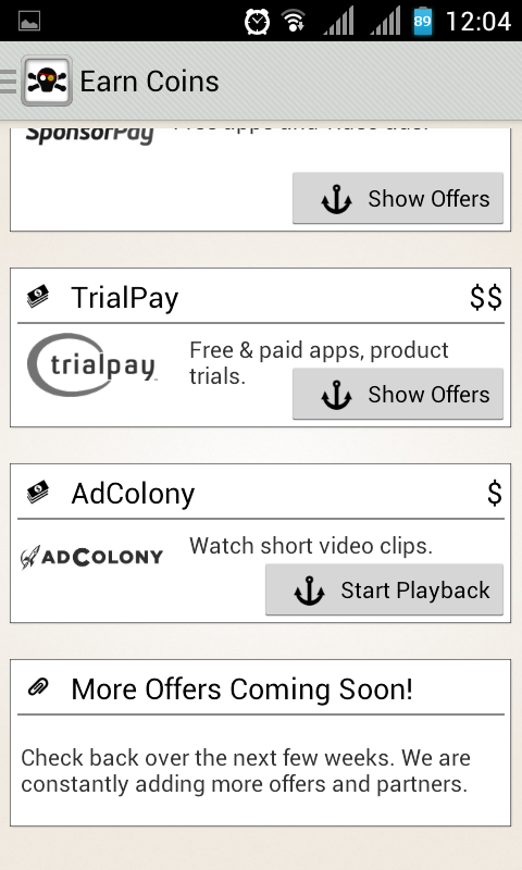 cara mendapatkan point dengan cashpirate applikasi android untuk mencari uang