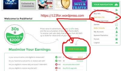 cara cari uang online dengan paidverts
