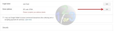 setting alamat google wallet