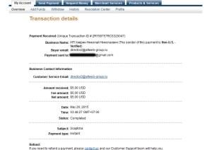 bukti pembayaran dari kerja online menjadi data entry